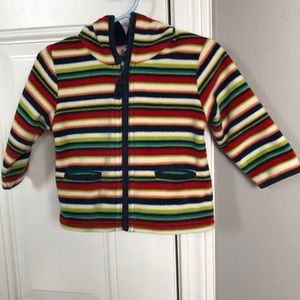 Baby Gap Infant Striped Hooded Sweater 6-12M